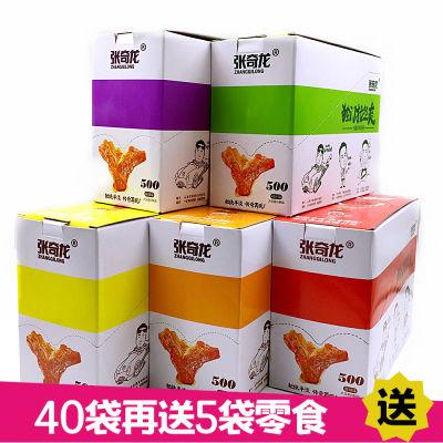 张奇龙独门拉丝爽40袋/20袋手撕素肉豆干辣条素肉豆腐干零食礼包