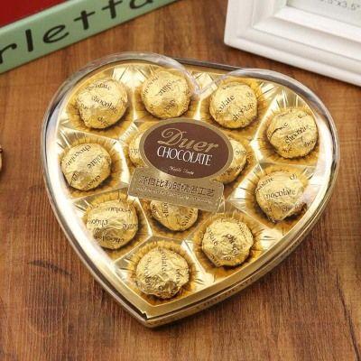【4斤送1斤】礼盒装巧克力果仁巧克力生日礼物男女生零食批发