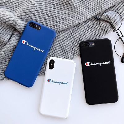 潮牌champion冠军iphone7plus手机壳R15苹果8plus/6s硬x全包壳X21
