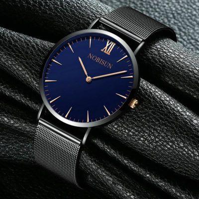 包邮!正品超薄防水钢带手表男士时尚石英学生韩版简约休闲腕表