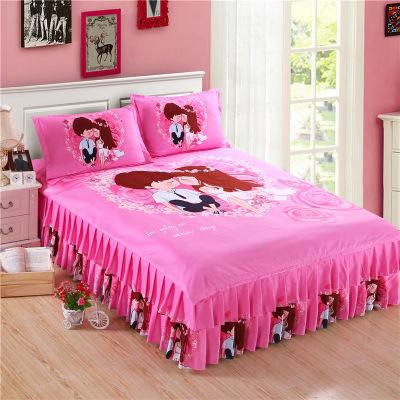 床单被罩单人宿舍件套夏床上柜子水洗棉被套床裙套双人用品女卡通