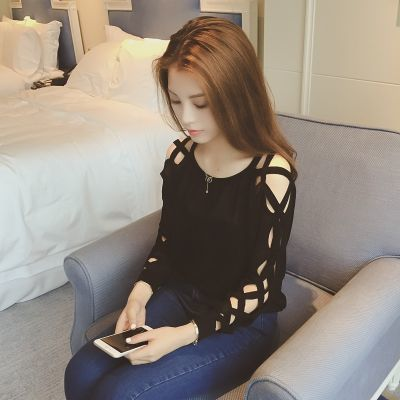 中长款上衣女娃娃衫女学生韩版夏夏季防晒雪纺衫棉线短袖女网红同