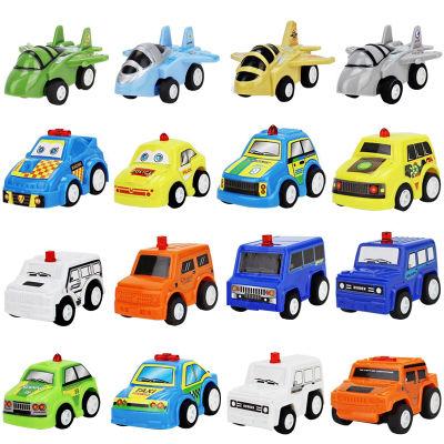 10只装回力车玩具惯性小汽车飞机坦克工程车警车回力车儿童玩具