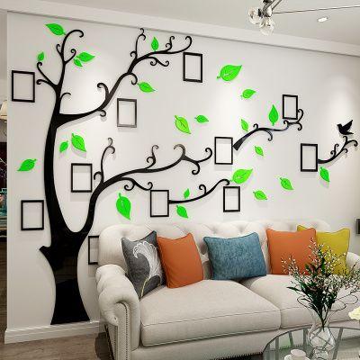 照片墙贴照片树3d立体亚克力墙贴卧室客厅餐厅电视沙发装饰贴画