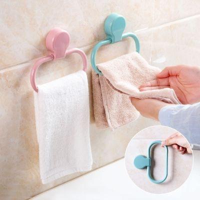 5个装强力粘贴毛巾环厨房抹布挂架卫生间免打孔毛巾架挂毛巾架子