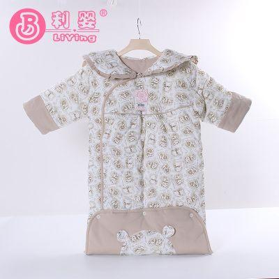 【纯棉】新生婴儿童秋冬新款加厚睡袋0-12个月连体防踢被子