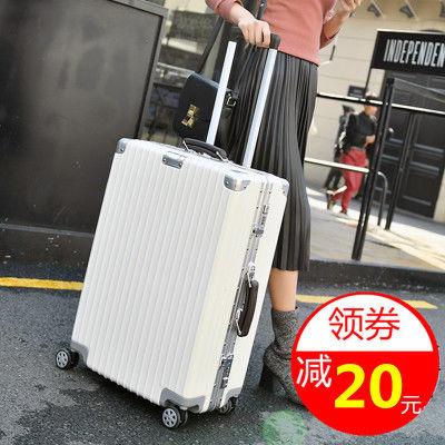 【促销款】复古行李箱女学生旅行箱拉杆男20密码箱包24寸皮箱子