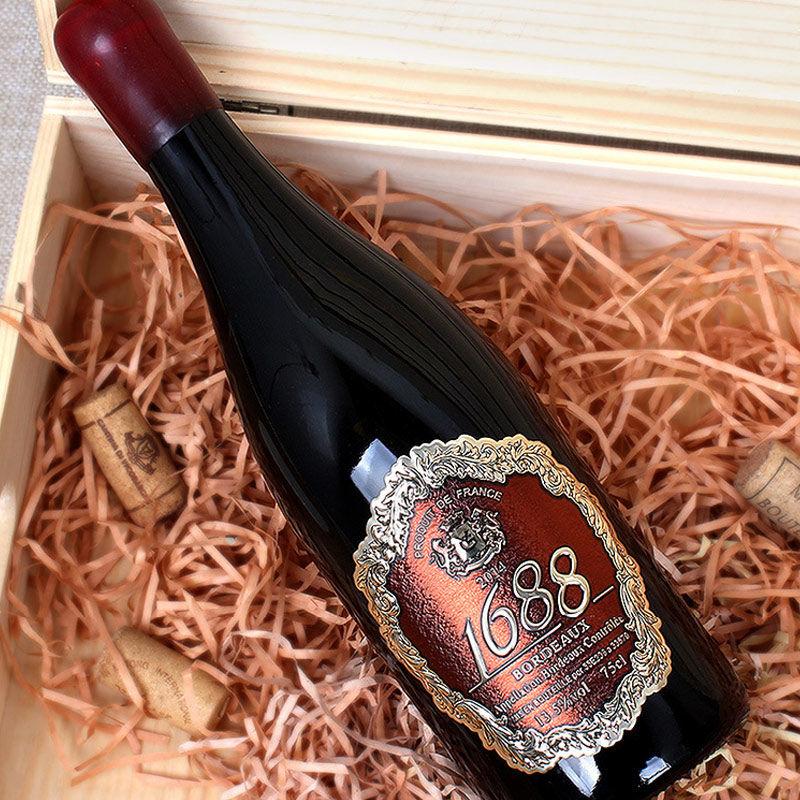 法国原瓶进口皇爵1688干红葡萄酒重型瓶金属标签750ml红酒包邮
