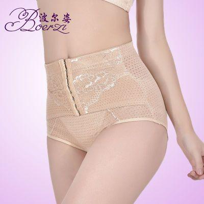 收腹提臀透气棉排口中腰加强塑身蕾丝薄产后紧身美体女内裤束腰