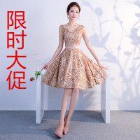 宴会小礼服短款2020新款修身生日聚会派对伴娘服春夏季连衣裙女