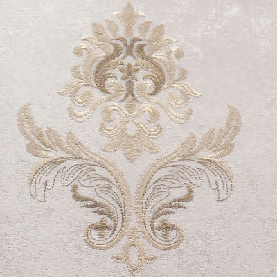 欧式刺绣无缝墙布壁布防水防潮3d立体感可带辅料施工适用客厅卧室