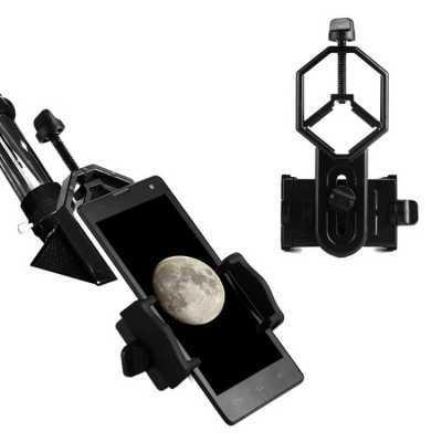 望远镜配件多功能摄影金属手机夹可连接天文单筒双筒手机拍照支架
