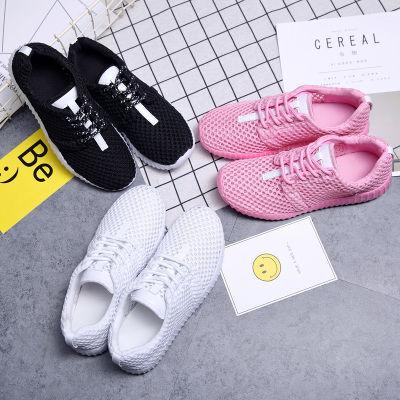 【晋江制造品质保障】夏季运动休闲女鞋镂空透气网面鞋学生小白鞋