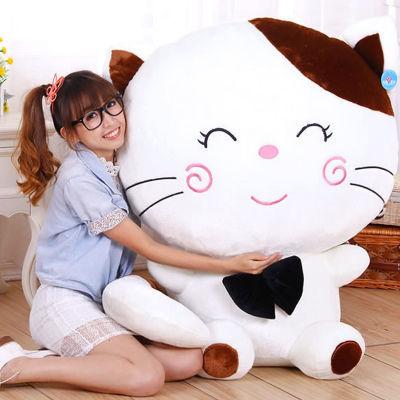 新品可爱猫咪毛绒玩具大号韩国玩偶萌抱枕睡觉公仔布娃娃生日礼物
