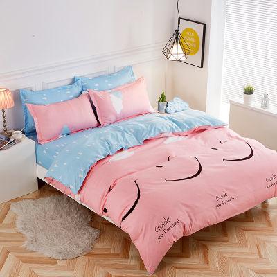 件套学生床上用品水洗棉床单高中宿舍单件卡通床罩子套网红风榻榻
