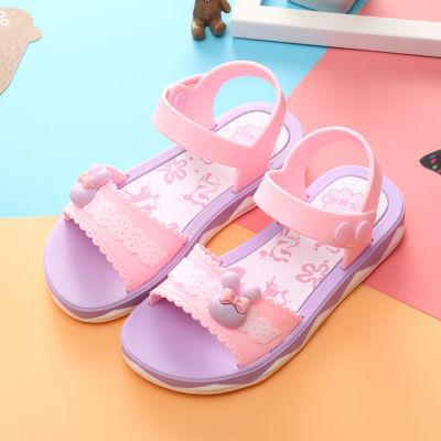 中学生凉鞋岁女孩水钻女女士平底新款初中韩版宝宝鞋夏儿童女装鞋