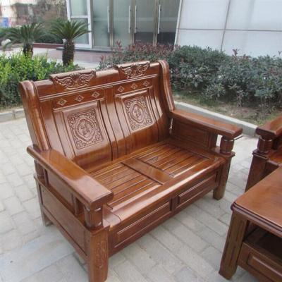 小木凳简约沙发皮垫欧式多功能沙发小床实木家具套装子实木沙发扶