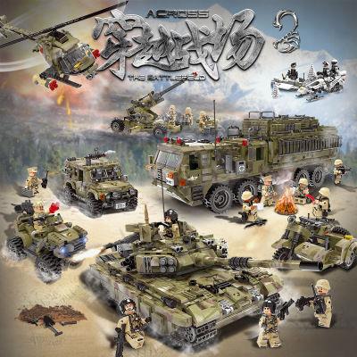 星堡积木兼容乐高军事系列拼装坦克模型穿越战场男孩子玩具10岁12