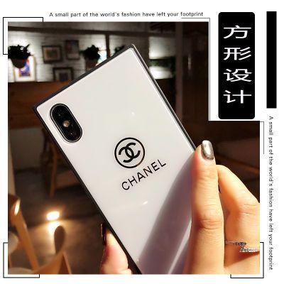 苹果7plus手机壳iphone8抖音网红方形壳iphoneX潮牌/苹果玻璃壳软