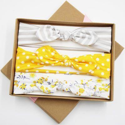 橙小妞儿童发带套装礼盒韩国黑色防滑百搭潮妞结女孩宝宝婴儿头饰