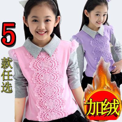 童装2018春秋韩版女童棉长袖t恤儿童洋气打底衫中大童公主上衣