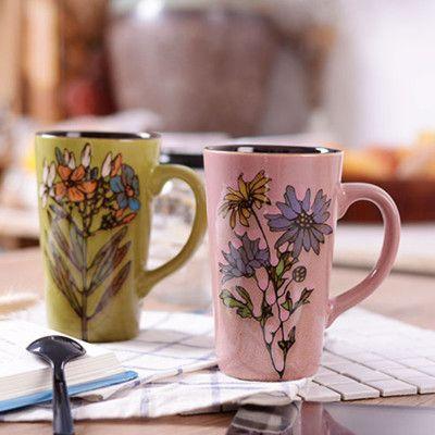 欧式创意杯子陶瓷大容量可爱马克杯办公家用情侣咖啡牛奶茶水杯女