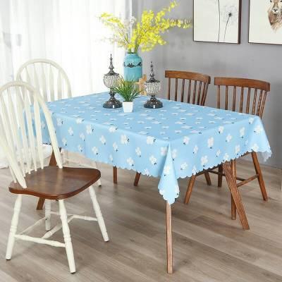 防水桌布餐桌布小清新长方形茶几垫方格子布艺台布
