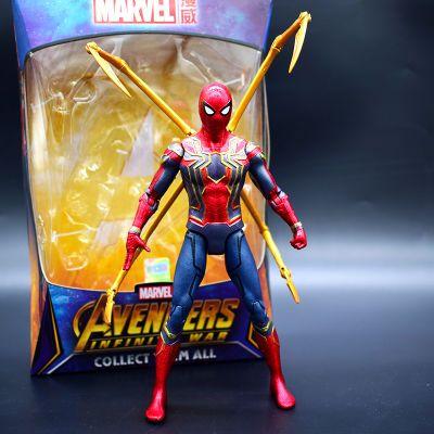 正版漫威复仇者联盟3手办蜘蛛侠玩具关节可动公仔模型摆件礼物