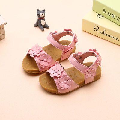 小猪佩奇拖鞋儿童中大童裙子女夏韩版女鞋凉鞋女小白鞋洞洞童新款
