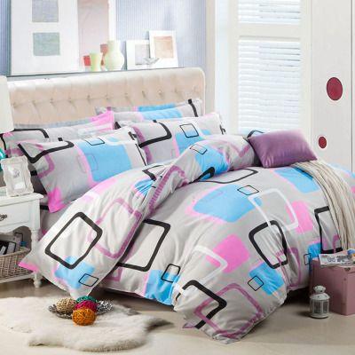 水洗棉夏被件套夏季床盖件套床单单件加厚床上笠天套钢丝床单人用