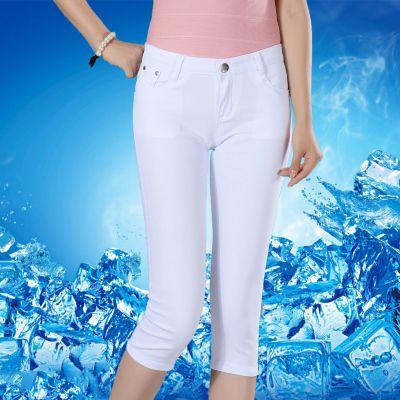 (12色可选)夏季薄款白色七分裤女韩版短裤女夏学生小脚裤子女马裤
