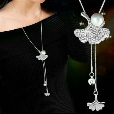 【 买二送一】秋冬长款韩版流苏吊坠项链珍珠钥匙百搭毛衣链饰品