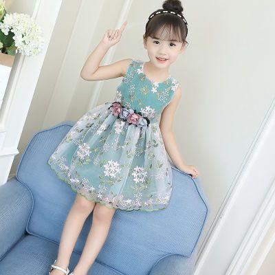 性感连衣裙显瘦岁女孩衣服儿童背带裙女夏修身连衣裙喇叭袖裙小公