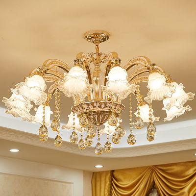欧式吊灯客厅锌合金水晶灯简欧餐厅卧室灯具奢华大气现代简约家用