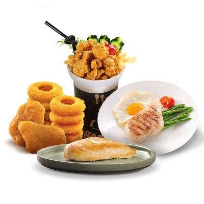 圣农油炸食品鸡米花盐酥鸡上校鸡块香虾鸡柳洋葱圈肯德基小吃冷冻