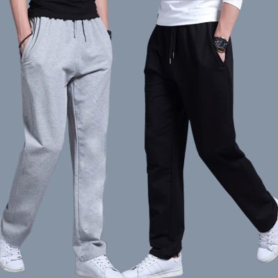夏季薄款男式休闲长裤口袋拉链春秋季棉直筒款大码卫裤运动裤
