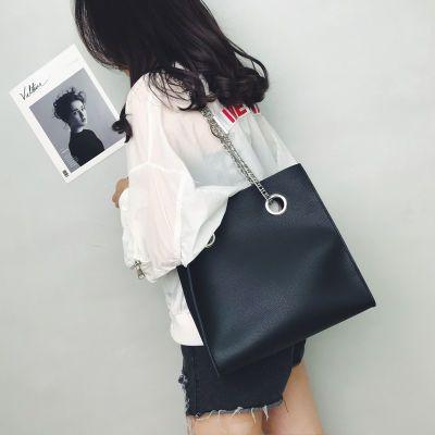 休闲大包包女2020夏新款潮韩版大容量链条学生百搭单肩斜挎手提包