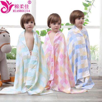 棉柔佳四季薄款双层纱布浴巾盖被儿童男女浴巾吸水速干70*140cm