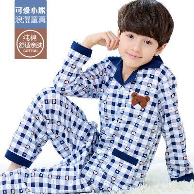 儿童睡衣男春秋纯棉套装男孩宝宝大童男童装小孩子长袖小童家居服