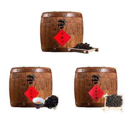 金骏眉正山小种大红袍茶叶浓香型红茶木桶装散装礼盒【多规格可选