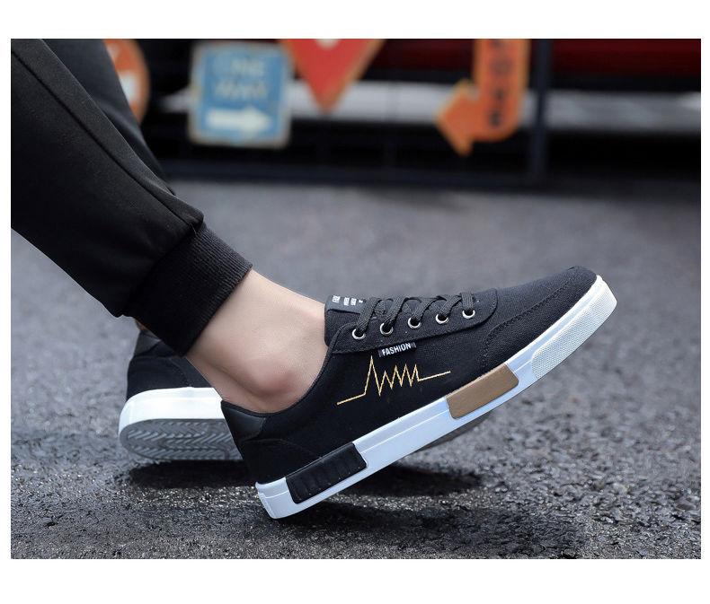 夏季帆布鞋男韩版男士休闲鞋学生透气板鞋男鞋运动鞋男生鞋子潮鞋