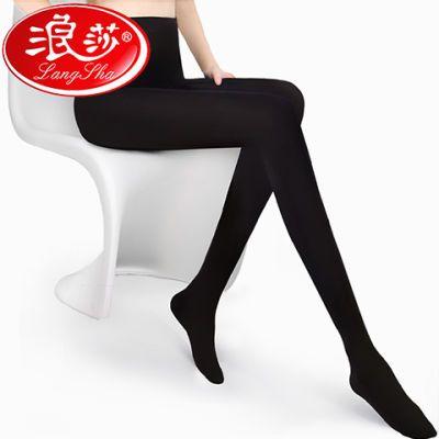 浪莎3条装秋季中厚丝袜连裤袜女防勾丝天鹅绒打底黑色显瘦美腿袜