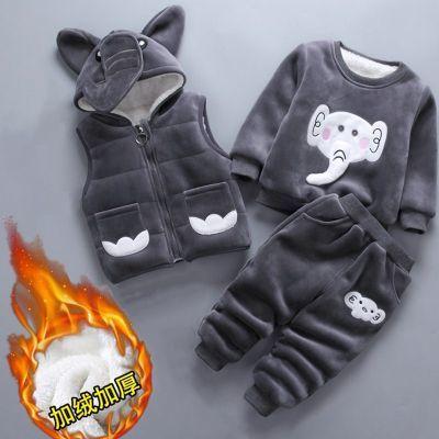 童装 冬装加厚婴儿童棉衣套装二三件套0-4岁男女宝宝衣服加绒加厚