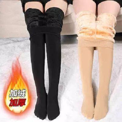光腿肤色加厚加绒打底裤连裤袜神器秋冬季女外穿肉色保暖裤子