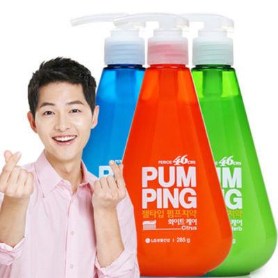 韩国进口正品LG倍瑞傲液体按压式牙膏美白去黄口气薄荷宋仲基代言