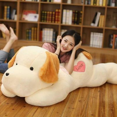 趴趴狗毛绒玩具大号狗狗抱枕靠垫公仔儿童玩偶布娃娃女生生日礼物