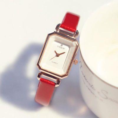 女生手表防水时尚款女2017新款简约气质长方形潮流学生石英小女表