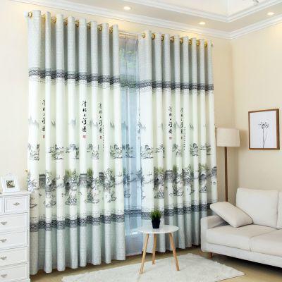 【新品窗帘】古典中国风清明上河图/梅兰竹菊/窗帘客厅落地窗飘窗