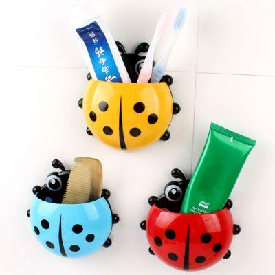 【拍2发3】【拍3发5】七星瓢虫牙刷架卫生间韩国可爱多功能吸壁式