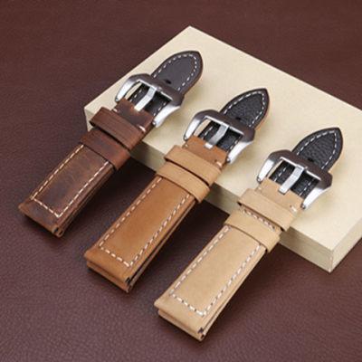 真皮手表带男女通用手表表带不锈钢针扣配件